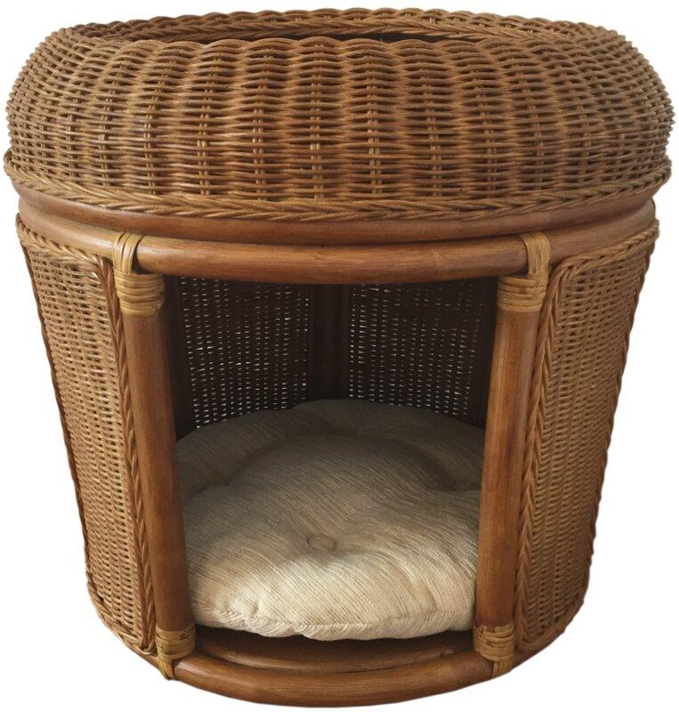 rattanwickerhomefurniture pets rattan wicker house hooded dog bed