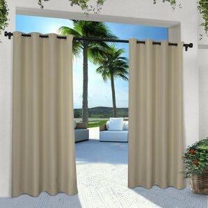 Denton Solid Semi Sheer Grommet Curtain Panels (Set Of 2)