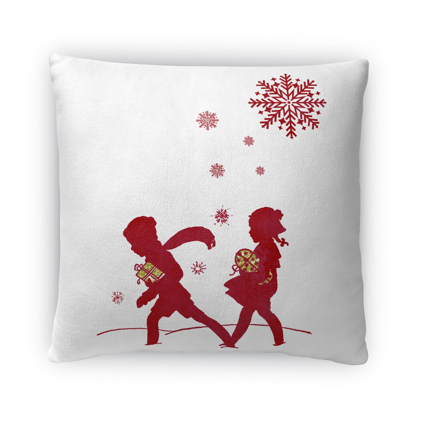 Photo Throw Pillow Gifts : Kavka Bringing the Gifts Fleece Throw Pillow Wayfair.ca