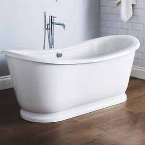 Alice 171cm x 78cm Freestanding Soaking Bathtub