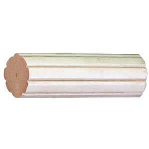 Compatible Drapery Fluted Single Curtain Rod  Wooden Curtain Rod