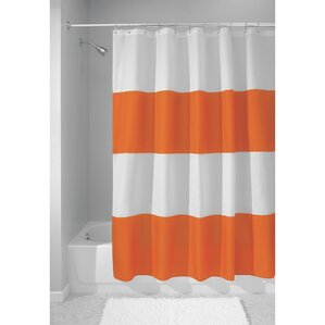 Beautiful Zeno Shower Curtain Throughout Orange Shower Curtain
