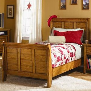 grandpas cabin headboard and footboard sleigh bed - Sleigh Bed Frames