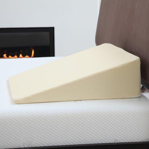 remedy natural pedic memory foam wedge pillow with cover u0026 reviews wayfair