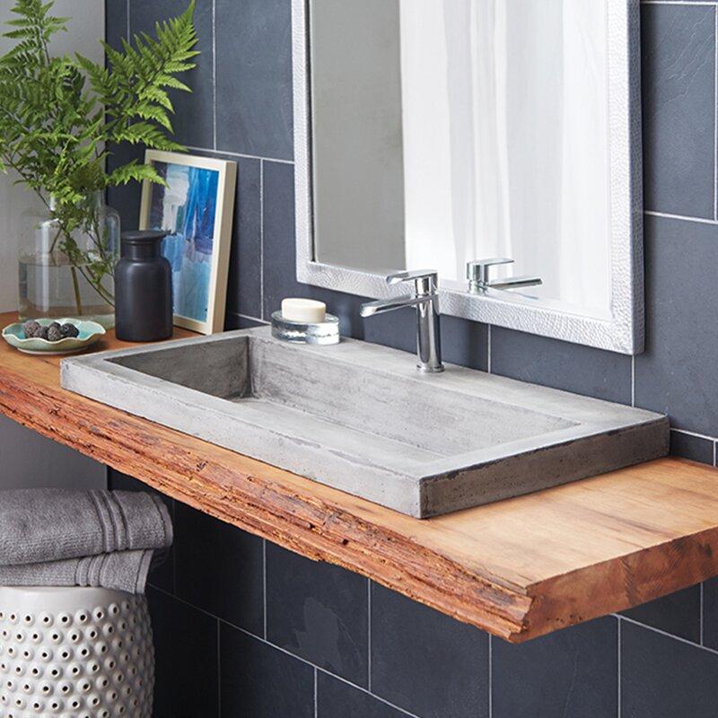 Trough Stone 36 Trough Bathroom Sink
