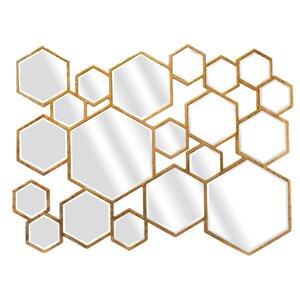 Multiple Hexa Lea Wall Accent Mirror