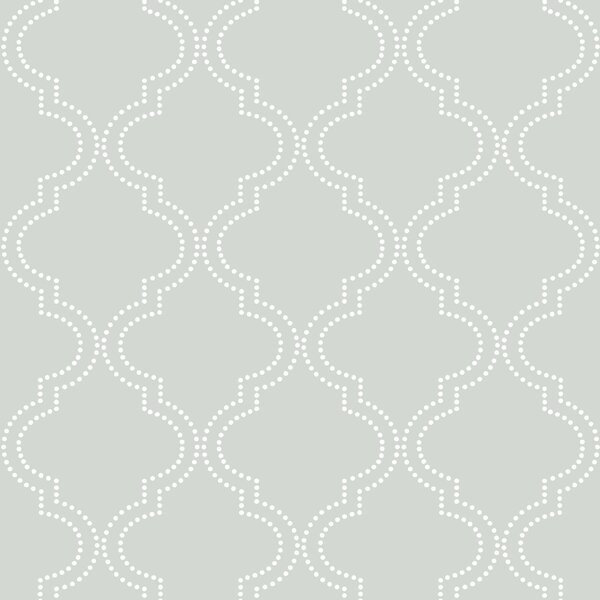 "wallpops! grey quatrefoil 18' x 20.5"" peel and stick wallpaper"