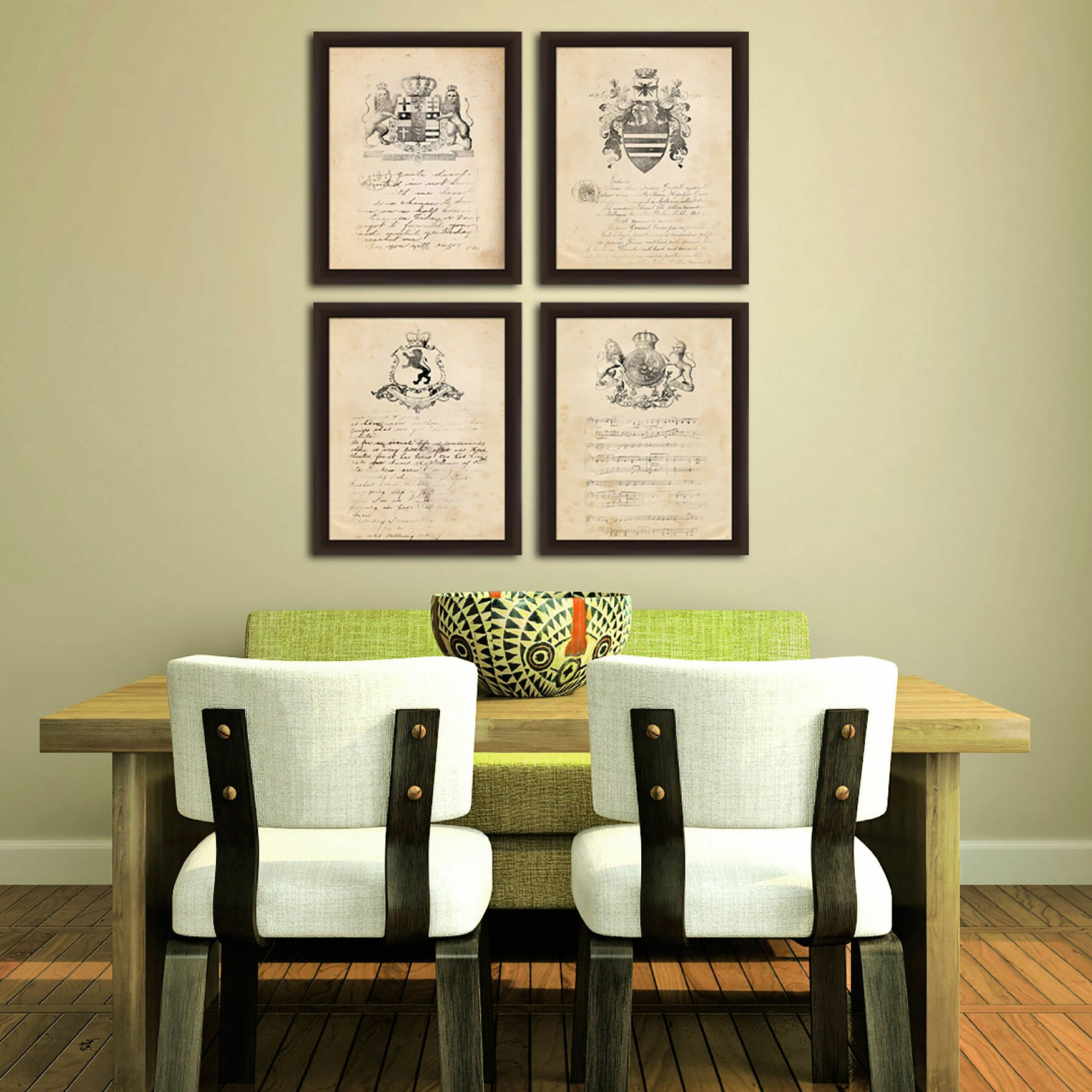 PTM Images Crest 4 Piece Giclée Framed Graphic Art Set & Reviews ...
