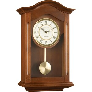 Wood and Metal Pendulum Wall Clock