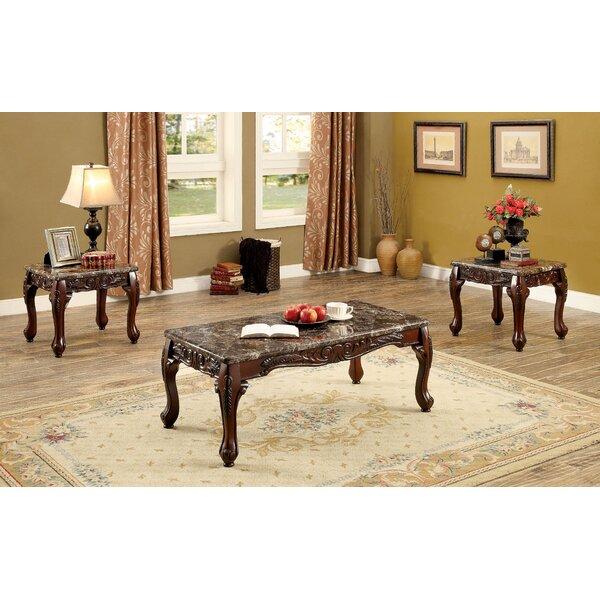 Astoria Grand Doory 3 Piece Coffee Table Set Reviews Wayfair