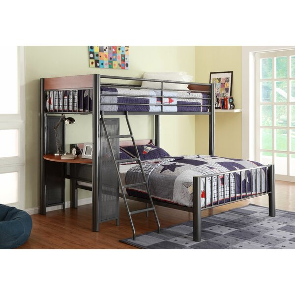 woodhaven hill division twin over full l shaped bunk bed reviews wayfair - Bunk Bed Frames