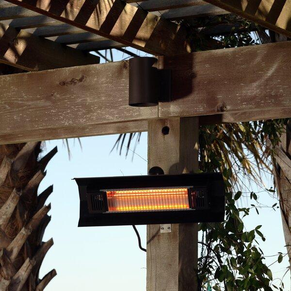 Exceptional Fire Sense Wall Mounted 1500 Watt Electric Mounted Patio Heater U0026 Reviews |  Wayfair