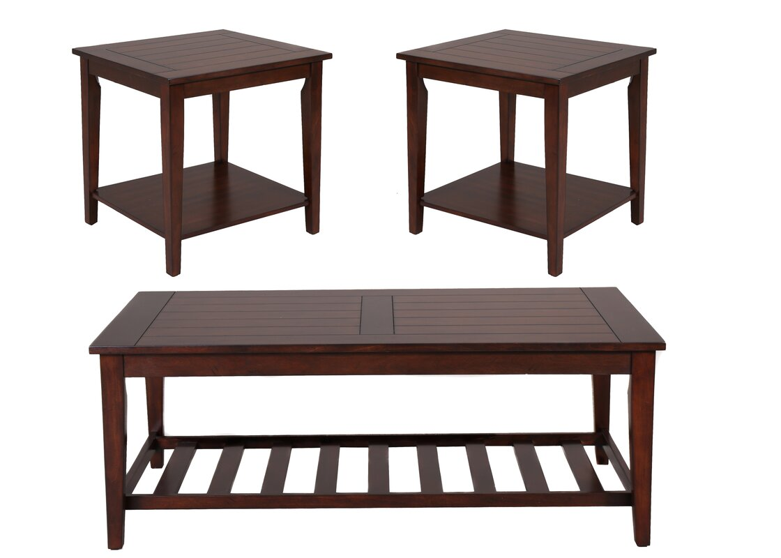 Wildon home missoula occasional 3 piece coffee table set for Transmutation table 85 items