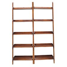 """76"""" Leaning Bookcase (Set of 2)"""