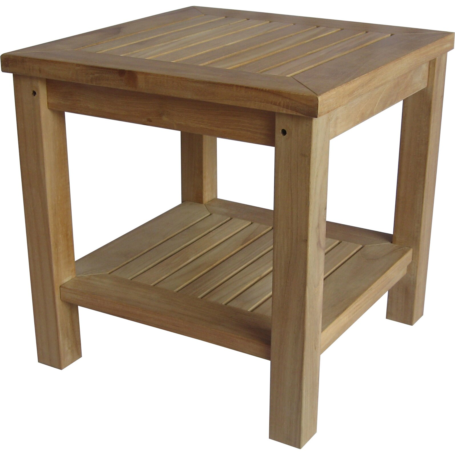 Arbora teak bristol teak side table reviews wayfair for Regulation 85 table a