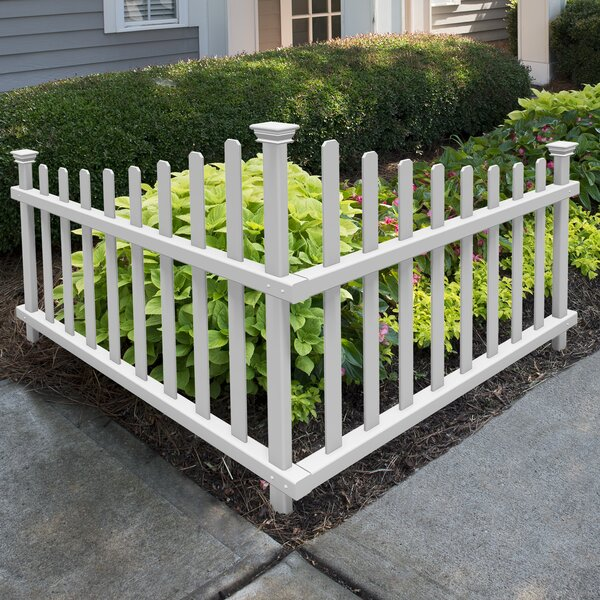 Zippity Outdoor Products Ashley Vinyl Corner Picket Accent