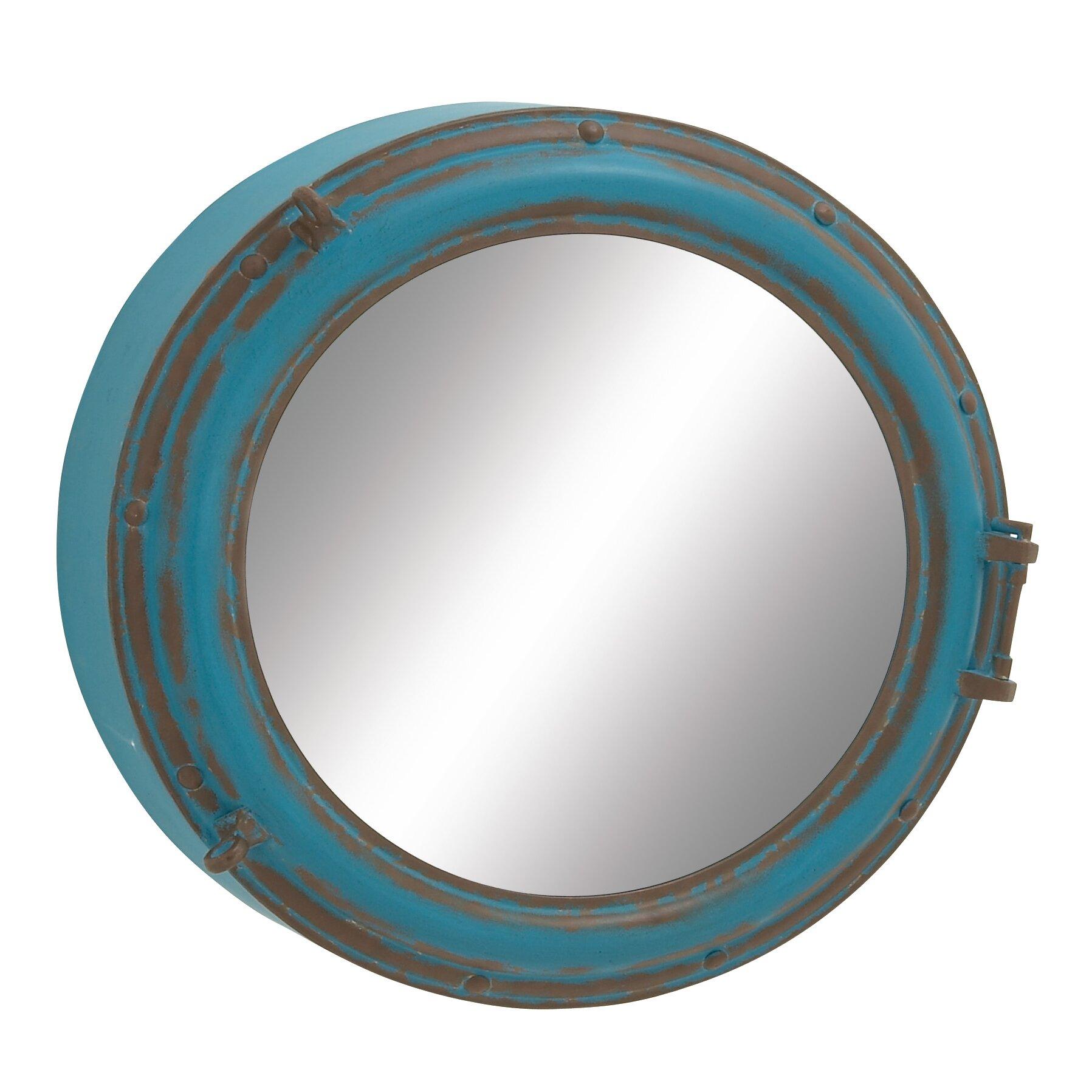 Breakwater bay prescott round wall mirror reviews wayfair for Prescott mirror