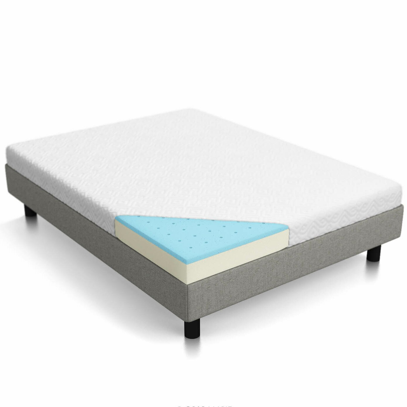 lucid 5 firm gel memory foam mattress reviews wayfair. Black Bedroom Furniture Sets. Home Design Ideas
