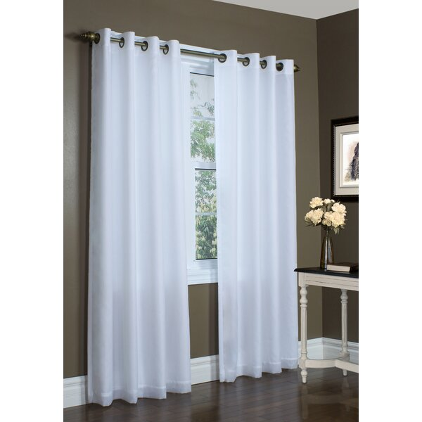 Zipcode Design Irene Lined Solid Sheer Single Curtain Panel U0026 Reviews |  Wayfair