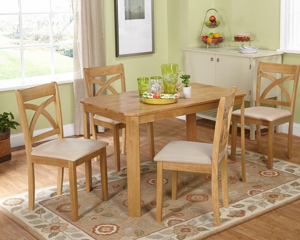 andover mills abigail 5 piece dining set & reviews | wayfair
