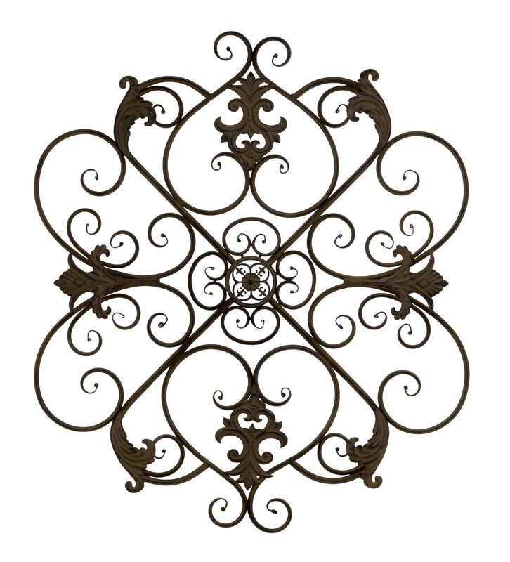 Fleur De Lis Wall Decor bayaccents wrought iron fleur de lis wall decor & reviews | wayfair