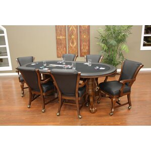High Stakes Oval Poker Table Set