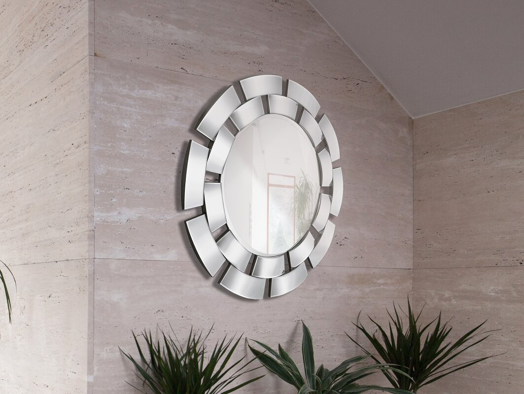 Convex Wall Mirror majestic mirror creative circular convex panel framed wall mirror