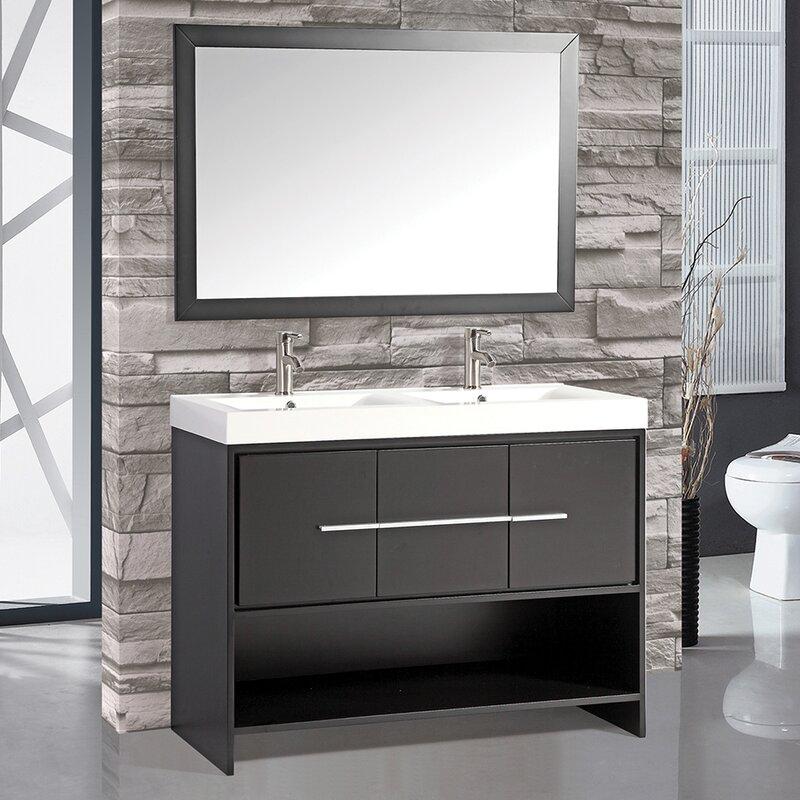 """mtdvanities belarus 48"""" double sink bathroom vanity set with"""