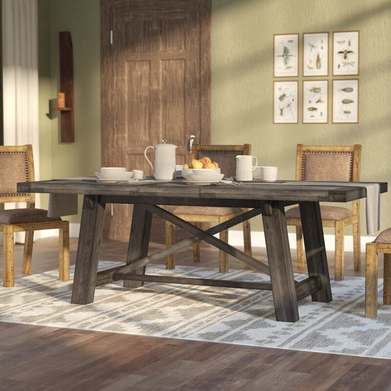 default name. Laurel Foundry Modern Farmhouse Colborne Extendable Dining Table