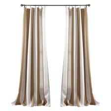 ashton room darkening striped blackout thermal pinch pleat curtain panels set of 2