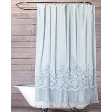 caprice cotton shower curtain