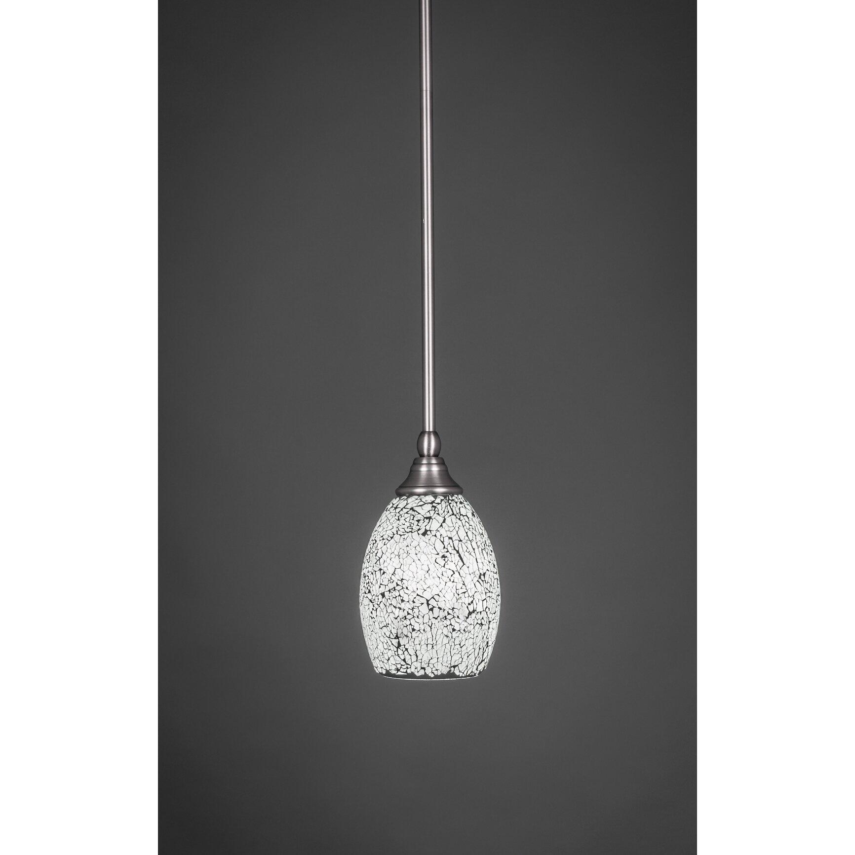 Toltec Lighting 1-Light Stem Mini Pendant With Hang