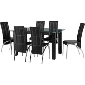 Carlos Dining Set with 6 Chairs