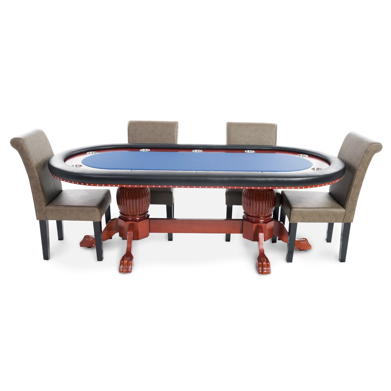BBO Poker Rockwell 8 Piece Poker Dining Table Set with Lounge ...