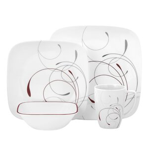 splendor 16 piece dinnerware set service for 4