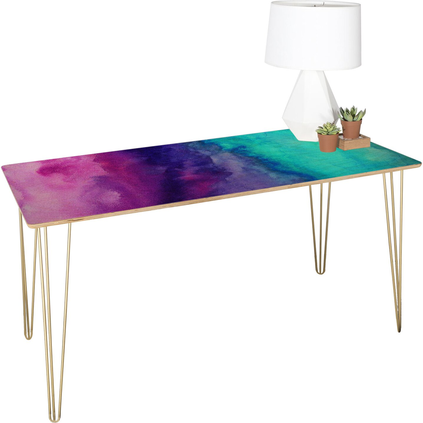 Deny Designs Jacqueline Maldonado The Sound Writing Desk | Wayfair Supply