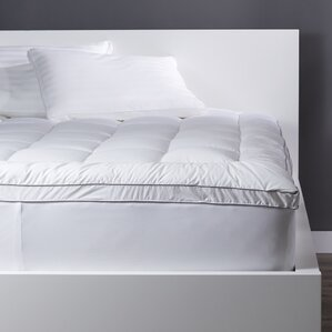 machine washable mattress pads & toppers you'll love | wayfair