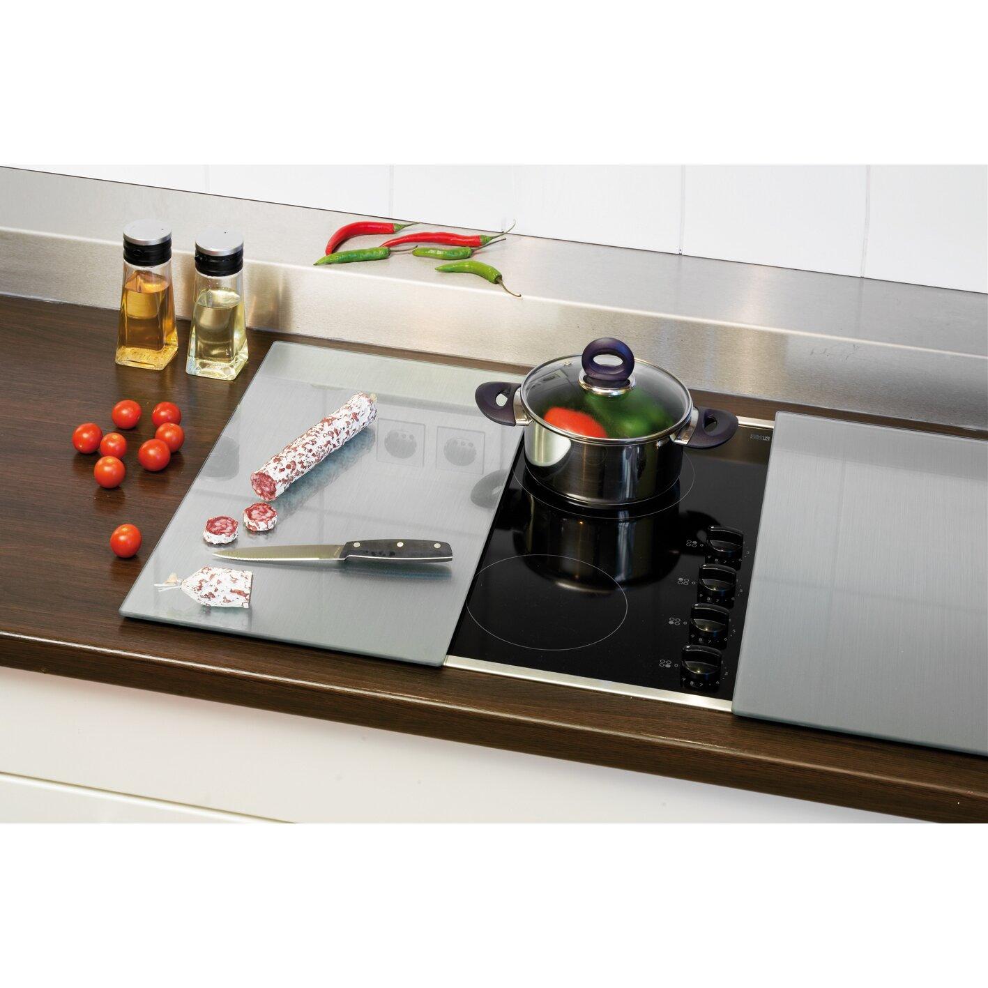 zeller 2 tlg schneideplatten set opak f r cerankochfeld. Black Bedroom Furniture Sets. Home Design Ideas