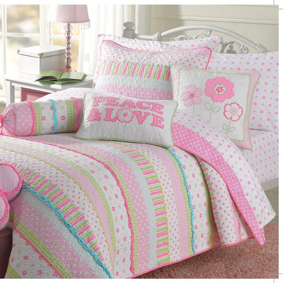 Bed sheet set with quilt - Greta Pastel Quilt Set