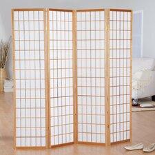 Hoceima 72 X 72 Oriental Shoji 4 Panel Room Divider