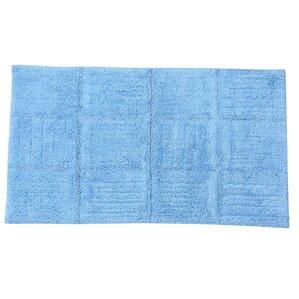 Conrad 100% Cotton Chakkar Board Spray Latex Back Bath Rug