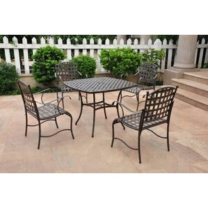 Schilling 5 Piece Iron Patio Dining Set