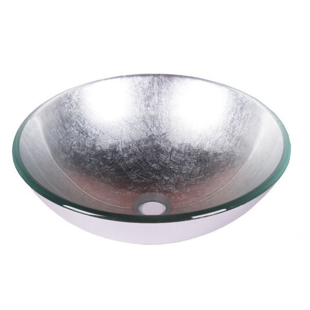 Jano foil tempered glass circular vessel bathroom sink Bathroom tempered glass vessel sink