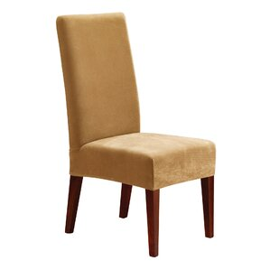 Stretch Pique Short Chair Slipcover