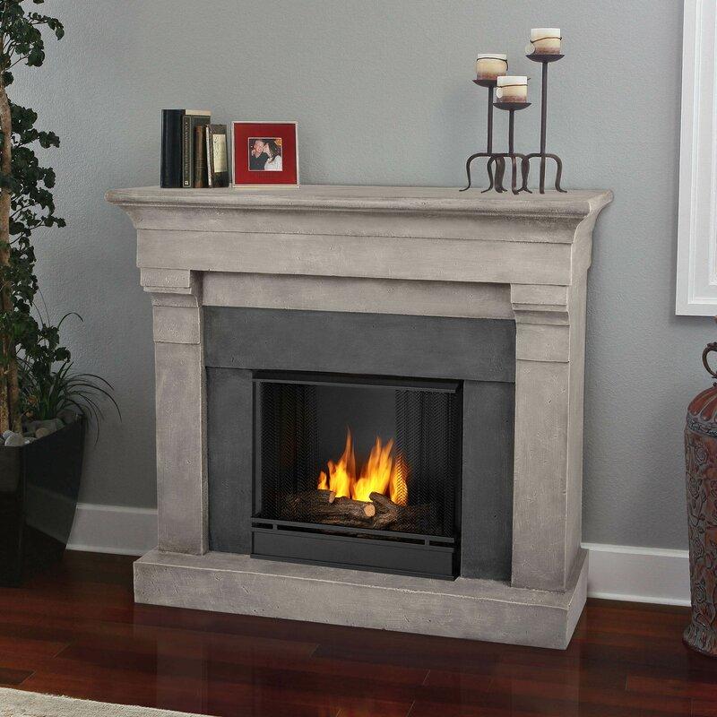 Fireplace Design gel fuel fireplaces : Real Flame Torrence Cast Mantel Gel Fuel Fireplace & Reviews | Wayfair