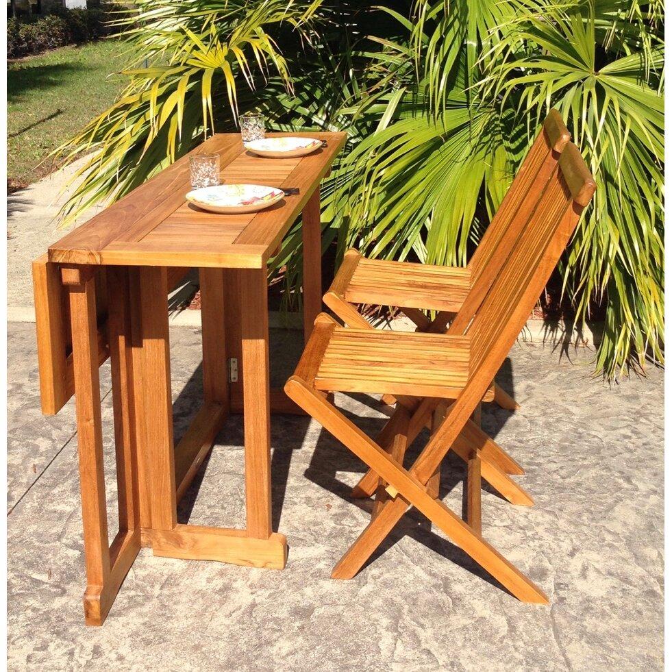 ChicTeak Hatteras Folding Dining Table & Reviews | Wayfair