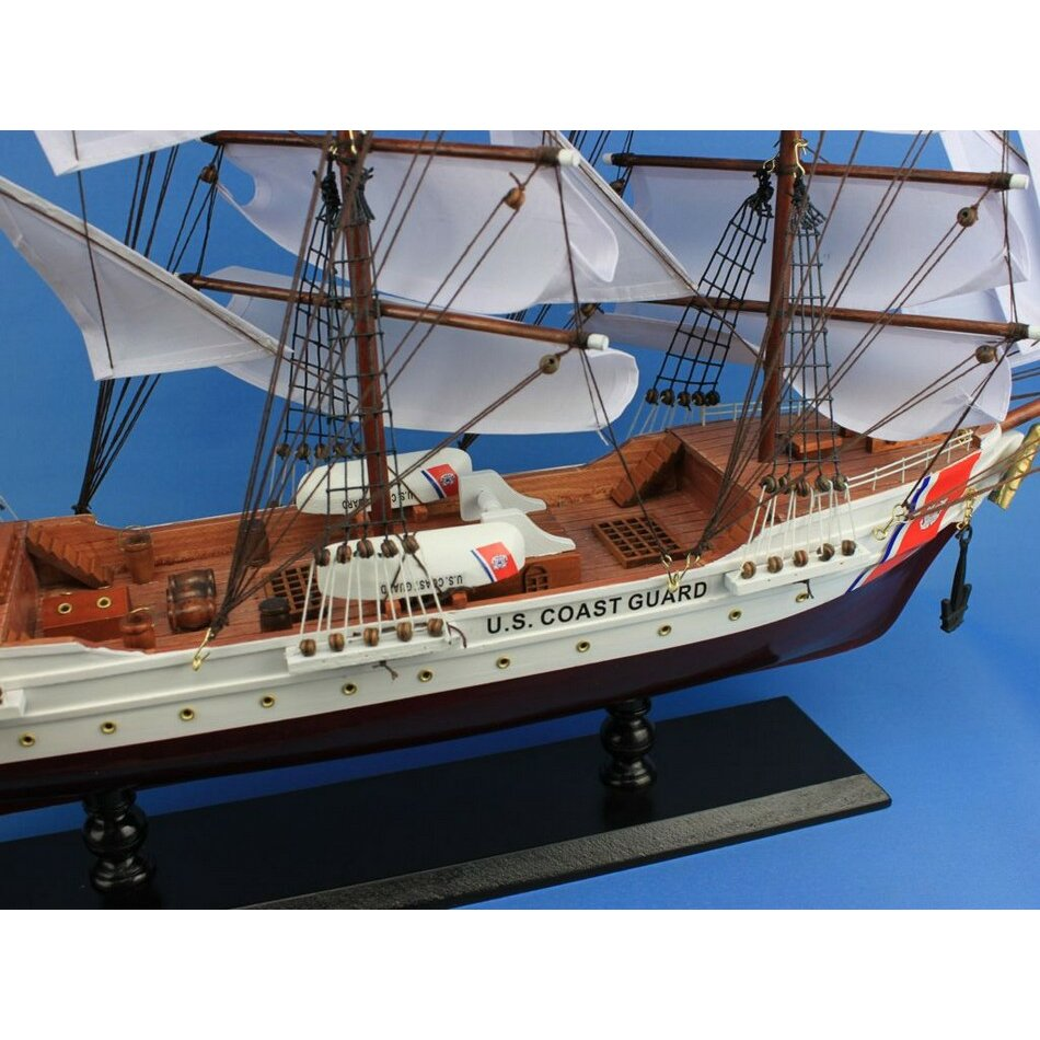 Handcrafted Nautical Decor USCG Eagle Model Ship & Reviews | Wayfair