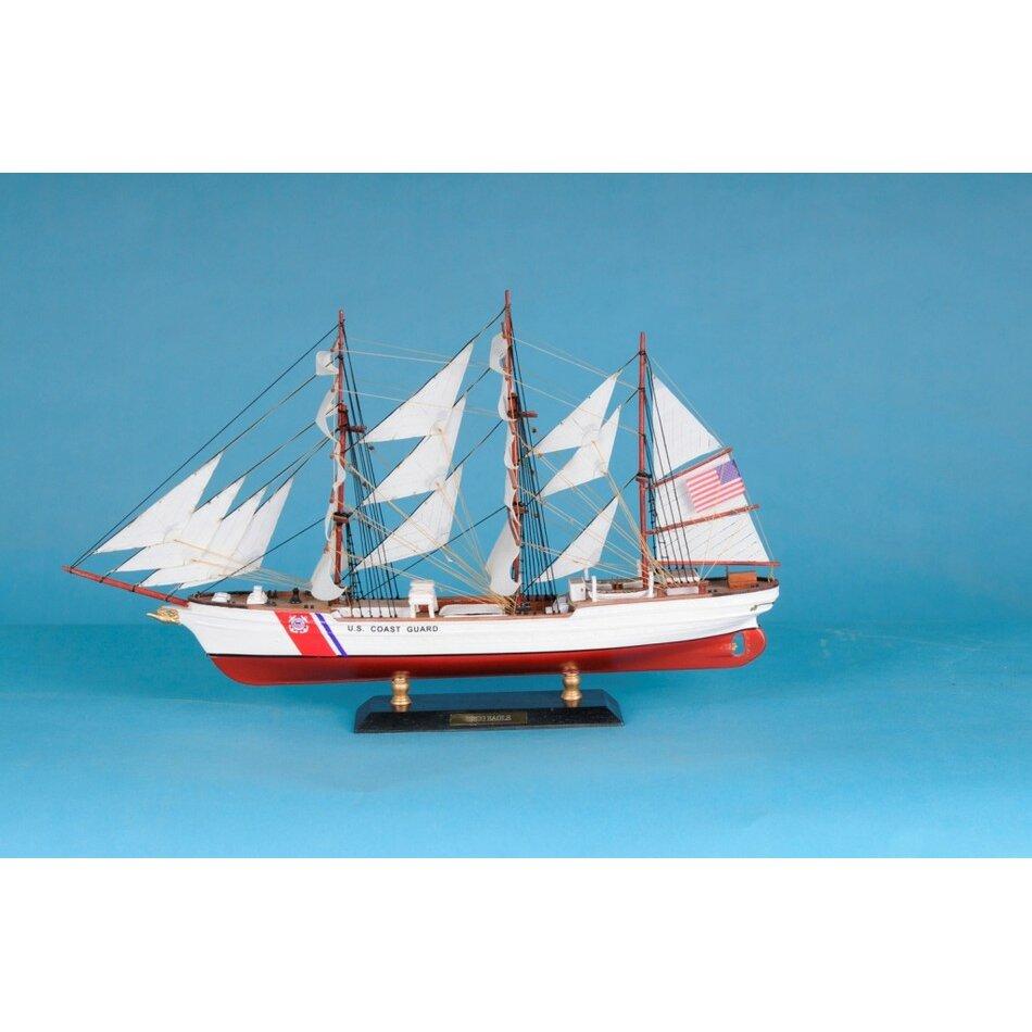"Handcrafted Nautical Decor 15"" USCG Eagle Limited Model Ship & Reviews | Wayfair"