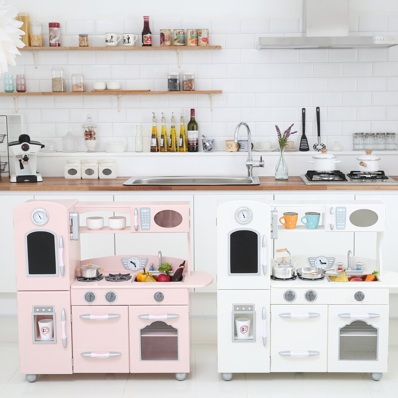wood play kitchen sets & accessories you'll love   wayfair