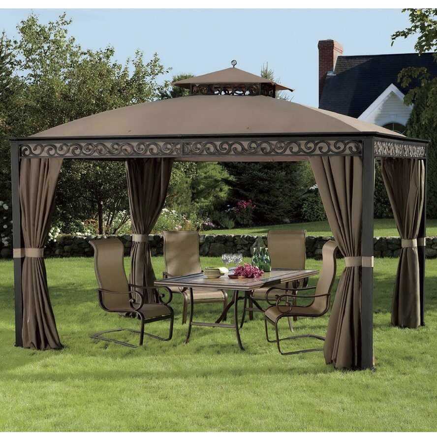 Sunjoy Replacement Canopy for 10' W x 12' D Fabric Gazebo ...